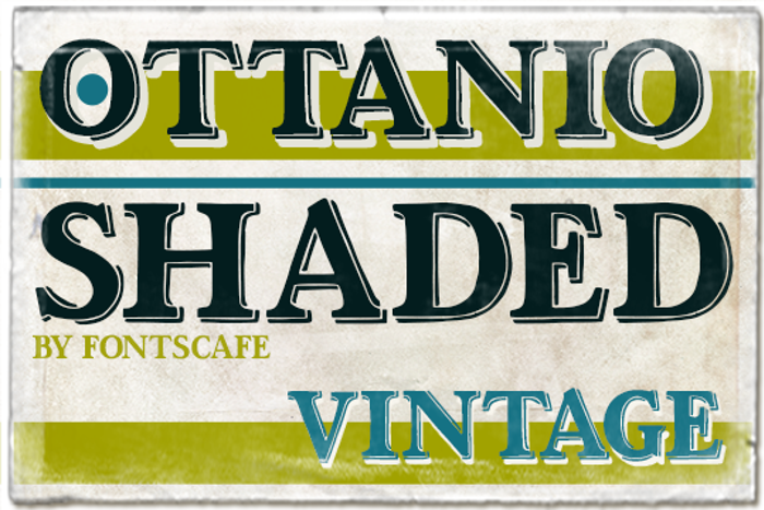 Ottanio Shaded Font poster