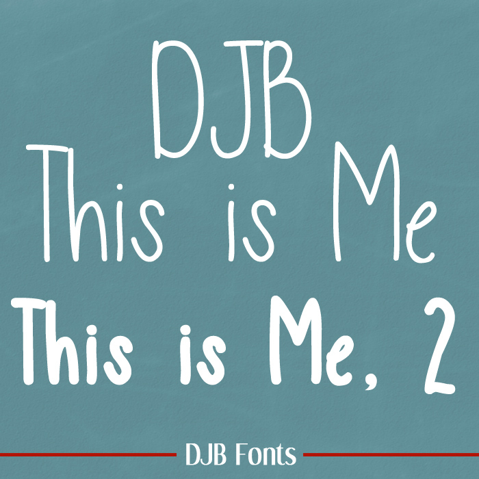 DJB This is Me Font poster