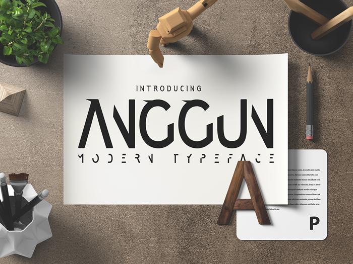 Anggun Sans Font poster