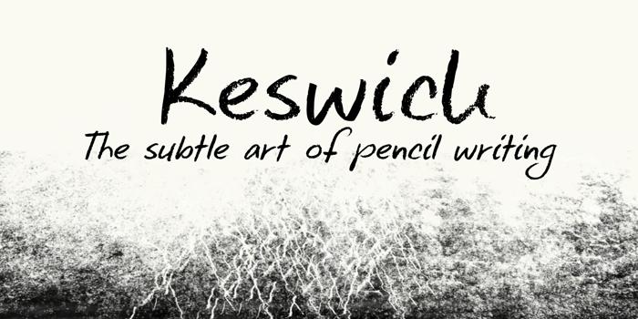 DK Keswick Font poster