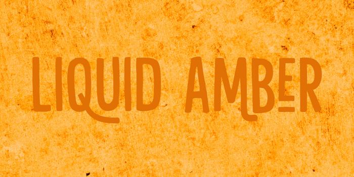 Liquid Amber DEMO Font poster