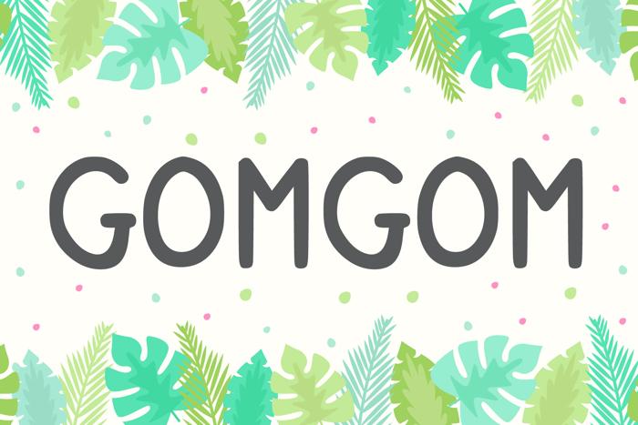 Gomgom Handwrite Font poster