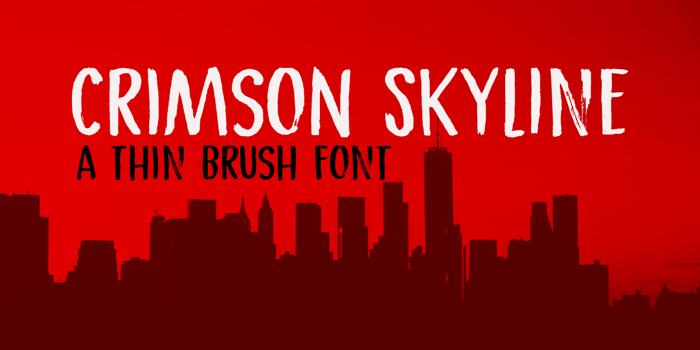 Crimson Skyline Font poster
