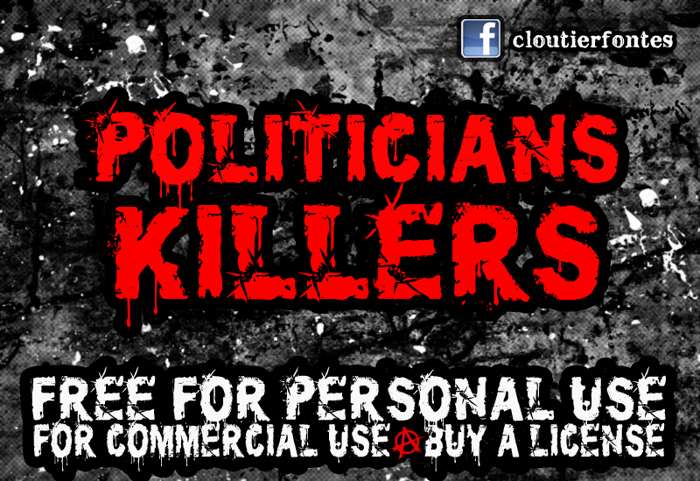 CF Politicians Killers Font poster