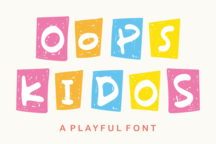 Oops Kidos Font poster