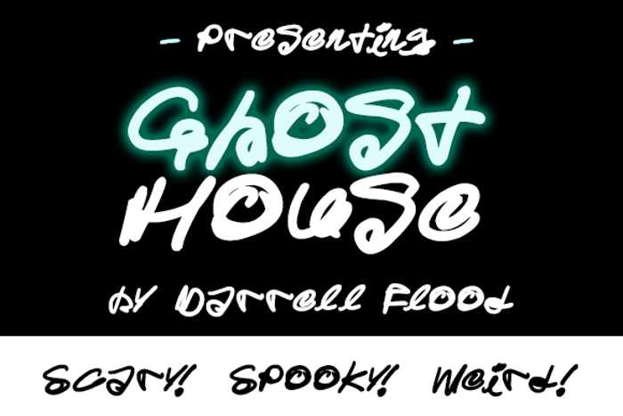 Ghost House Font poster