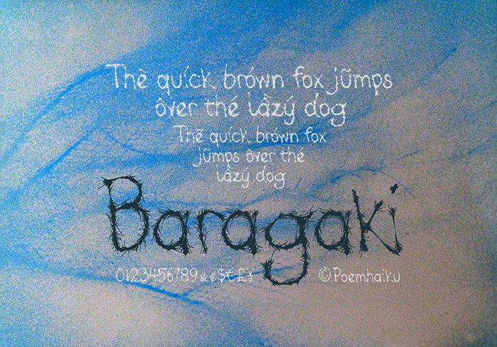 Baragaki Demo Mix Font poster