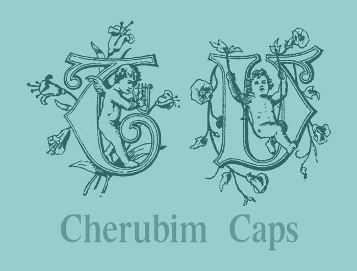 CherubimCaps Font poster