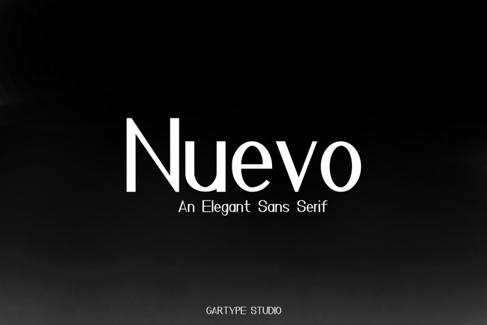 Nuevo Font poster