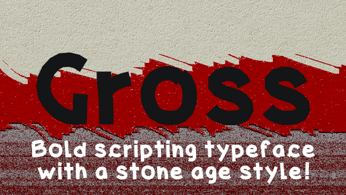 Gross Font poster