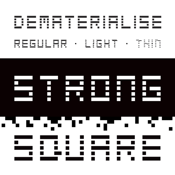 Dematerialise Font poster