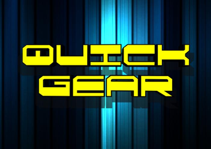 QuickGear Font poster