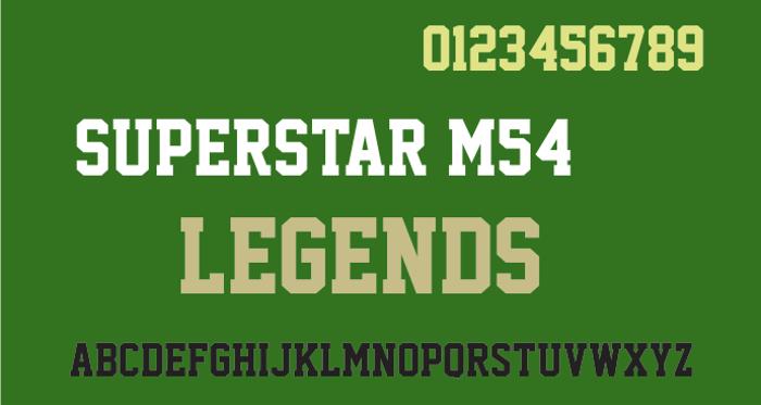 Superstar M54 Font poster