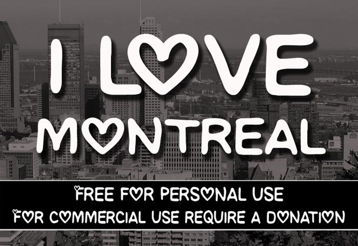 CF I love Montreal Font poster