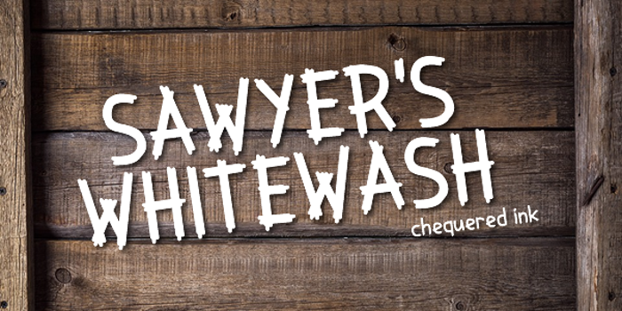 Sawyer's Whitewash Font
