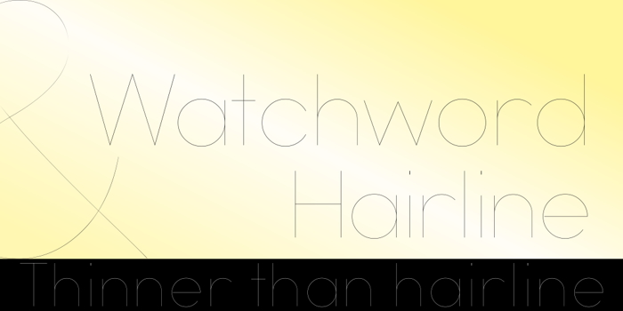 Watchword Hairline Demo Font poster
