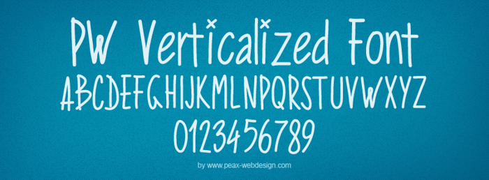 PWVerticalized Font