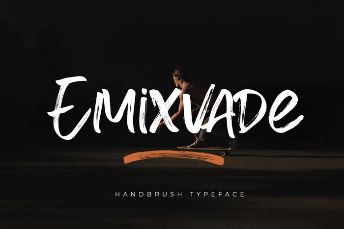 Emixvade Font poster