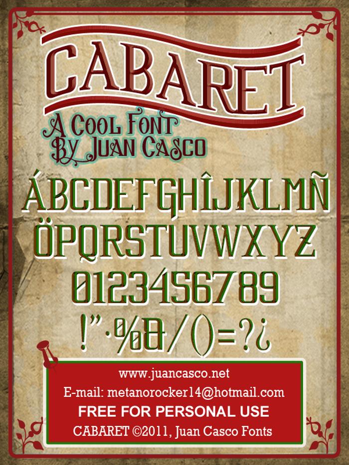 Cabaret Font poster