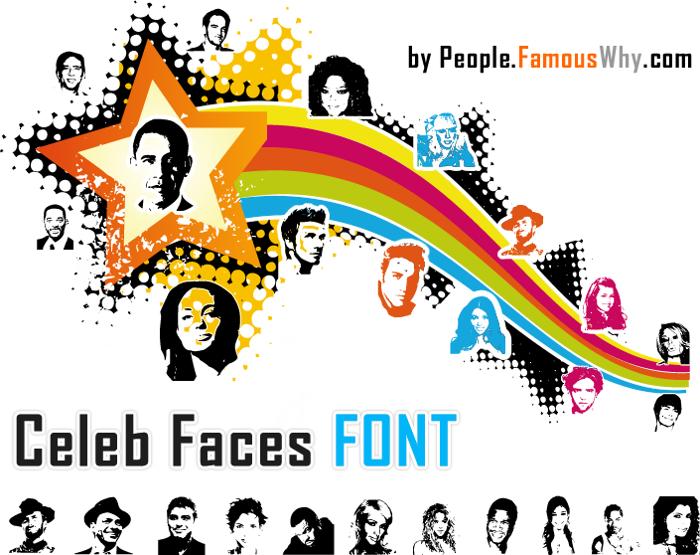 Celeb Faces Font poster
