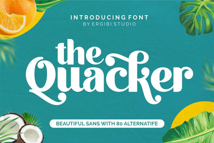 Quacker Font poster