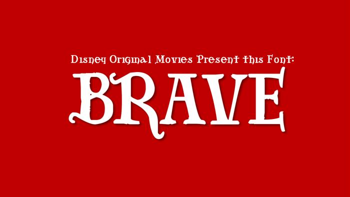 Brave Font poster