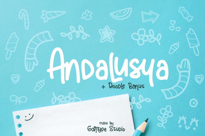 Andalusya Font poster