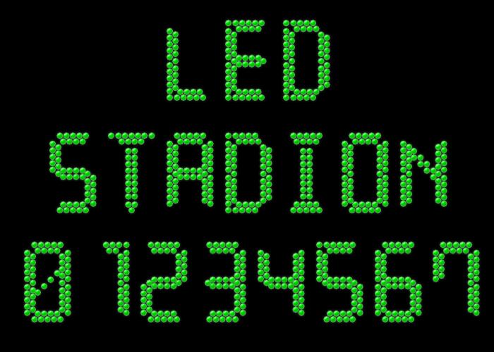 LED Stadion 7 Font poster
