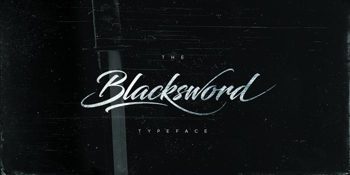 Blacksword Font poster