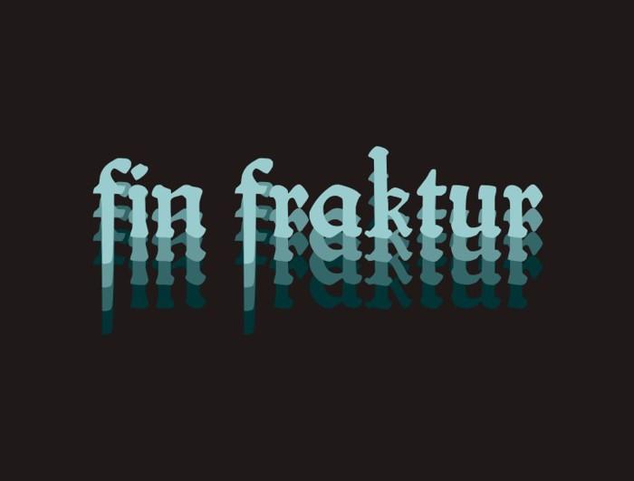 fin fraktur Font poster