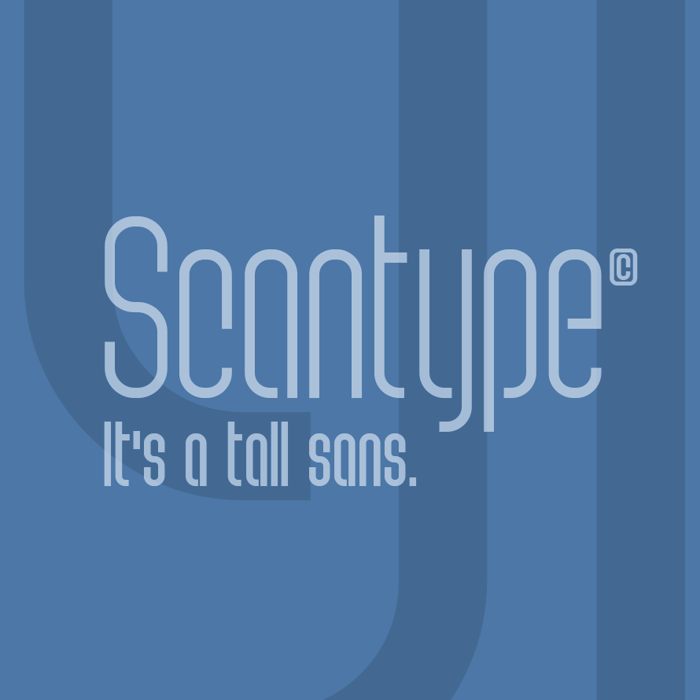 Scantype Font poster