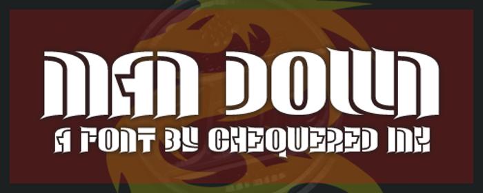 Man Down Font poster