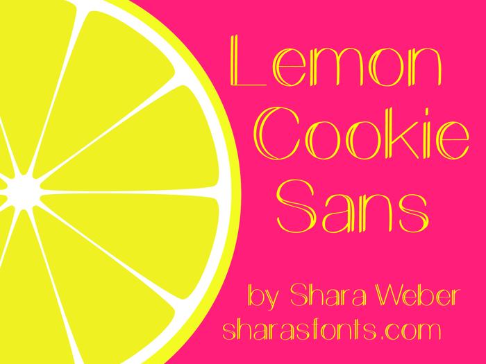 Lemon Cookie Sans Font poster
