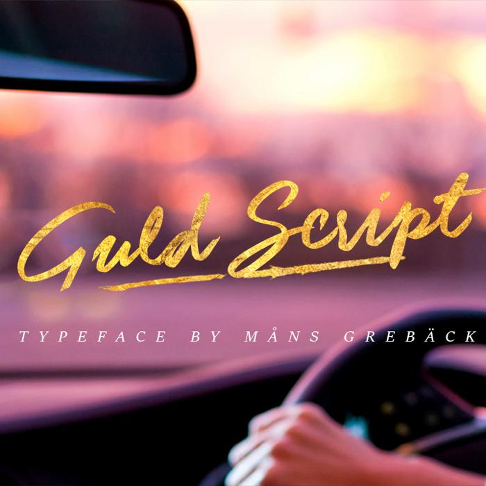 Guld Script Font poster