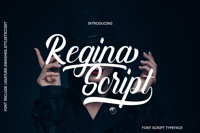 Regina Script Font poster