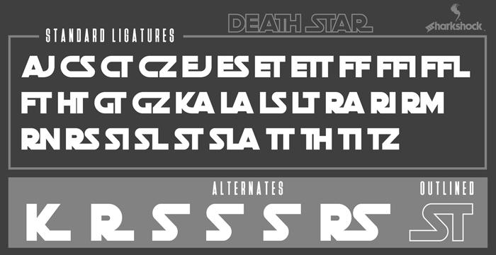 Death Star Font poster