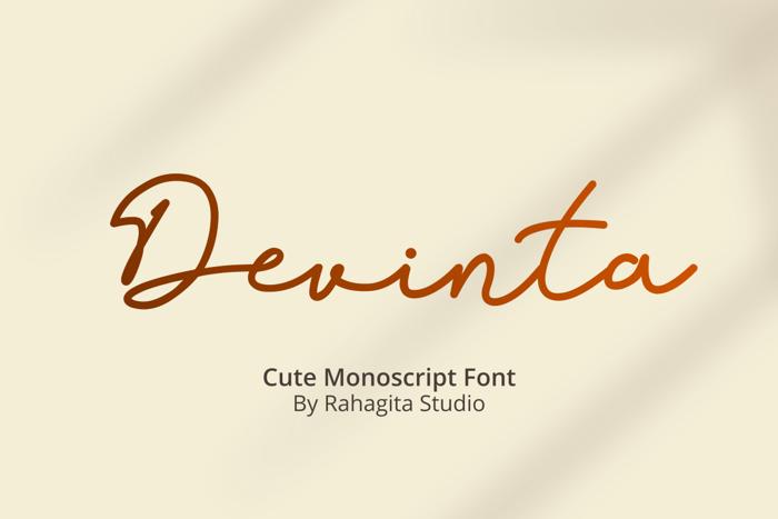 Devinta Font poster