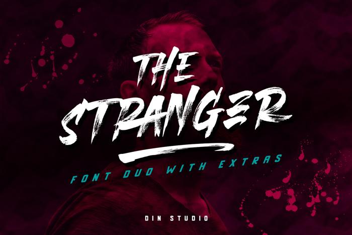 The Stranger Font poster