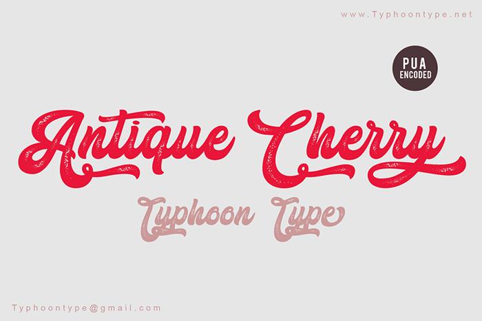 Antique Cherry Font poster