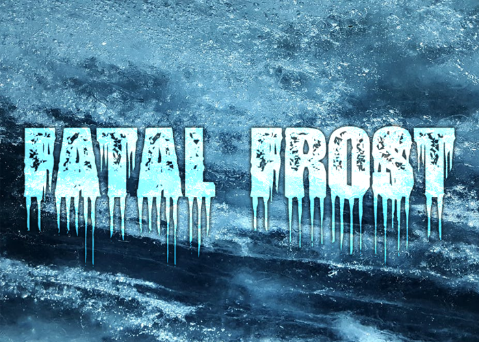 Fatal Frost Font poster