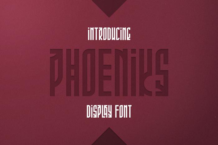 Phoeniks Font poster