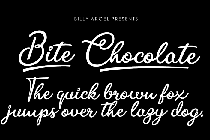 Bite Chocolate Font poster