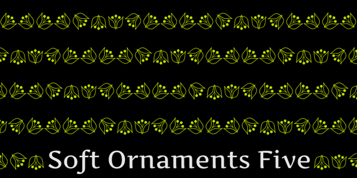 Soft Ornaments Five Font poster