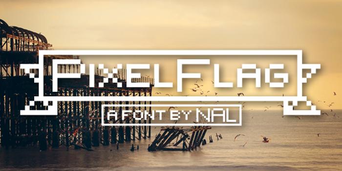 {PixelFlag} Font poster