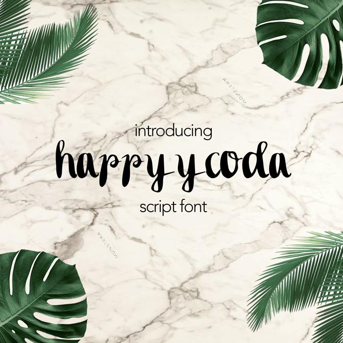 happyycoda Font poster