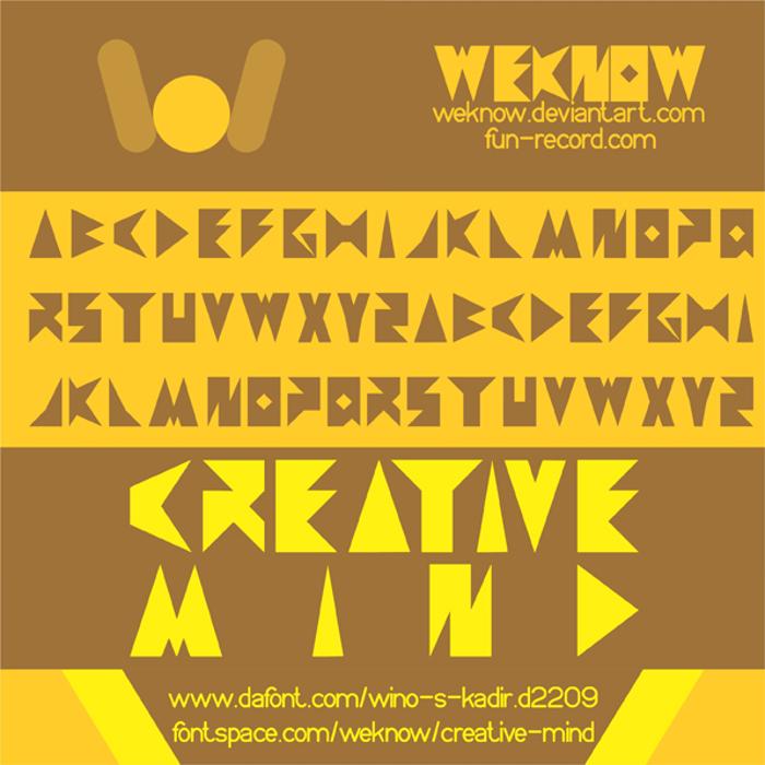 creative mind Font poster