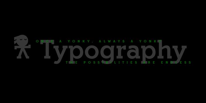 Yonky Black Font poster