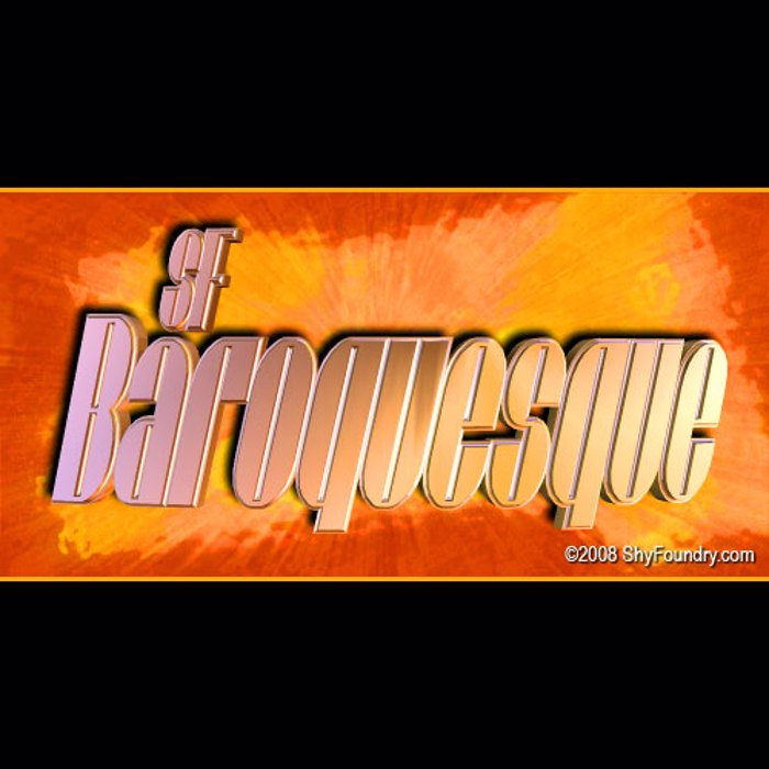 SF Baroquesque Font poster