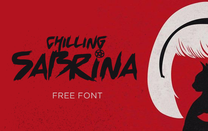 Chilling Sabrina Font poster