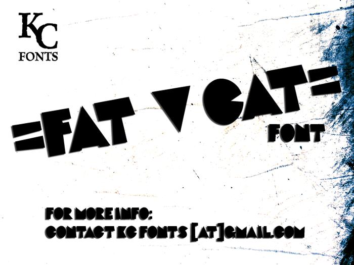 Fat Cat Font poster
